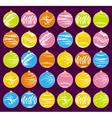 thirty christmas balls vector image
