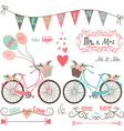 Wedding Bike Elements vector image