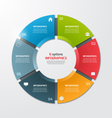 pie chart infographic template 6 options vector image