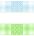 Lace border on fabric checked background vector image