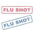 flu shot textile stamps vector image
