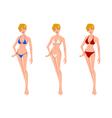 Women in Bikini vector image vector image