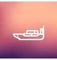 Cargo ship with container thin line icon vector image