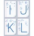 alphabet sketch vector image vector image