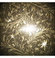 Seamless Gold Floral Wallpaper vector image