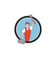 Mechanic Wrench Toolbox Circle Cartoon vector image