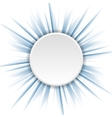 Blue beams and white circle vector image