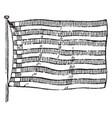 flag of bremen 1881 vintage vector image