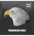 Geometric eagle on Triangle Pattern Background - vector image