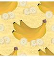 seamless pattern of ripe yellow bananas vector image
