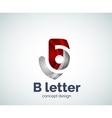 B letter concept logo template vector image