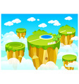 Green landscape mountain top Vector Image