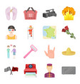 sports beauty shopping and other web icon in vector image