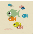 Transparent Colorful Fish Icons vector image