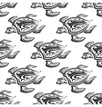 Seamless pattern of swimming turtles vector image