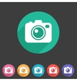 Photo camera flat icon vector image