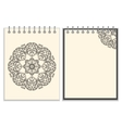 White cover notebook with handmade black pattern vector image