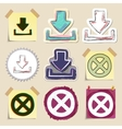 Hand drawn web emblems set Isolated vector image vector image