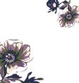 Vintage wallpaper frame rose flower pattern vector image