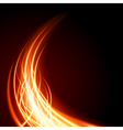 Abstract burning flame vector image vector image