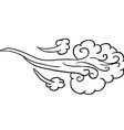 black and white wind vector image