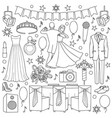 ball doodle set vector image