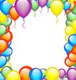 Balloons Frame vector image