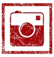 Camera grunge icon vector image