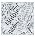 Creating and Starting an Online Business Word vector image