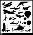 Flight silhouettes vector image
