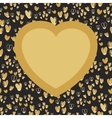 Gold heart with place for your text on seamless vector image