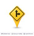 road sign pin vector image