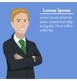 Success businessman concept vector image