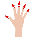 Woman hand vector image