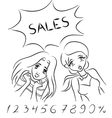 Women and sales vector image