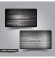 Business Card template set 54 Dark metal and steel vector image