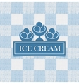 ice cream against tablecloth in the box vector image