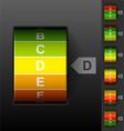 Energy efficiency rating vector image vector image