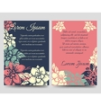 Floral boho style brochure flyers template vector image