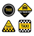 Taxi - set stickers vector image
