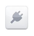 Plug white icon vector image
