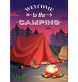 Welcome To Camping Poster vector image