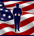 the silhouette of the president of the usa vector image