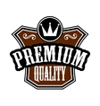 Premium Quality emblem or label vector image vector image