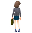A backview of a businesswoman vector image vector image