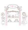 abstract fashion girls Shopping - vector image vector image