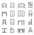Furniture Icon Bold Stroke vector image vector image