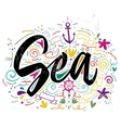 Print for T-shirt Sea Hand vector image vector image