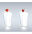 Berries in milk vector image