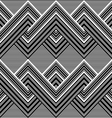 Black and white pattern by lines vector image